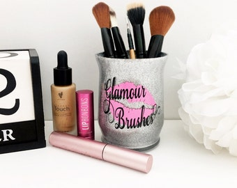 Makeup Brush Holder - Glitter Dipped Makeup Organizer - Cosmetic Organizer - Makeup Vanity - Cosmetic Glitter - Glitter Gifts - Gift for Her