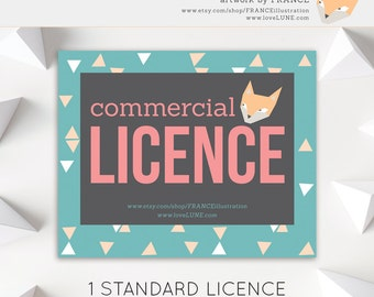 1 COMMERCIAL LICENCE for Small Runs (Under 500 units).