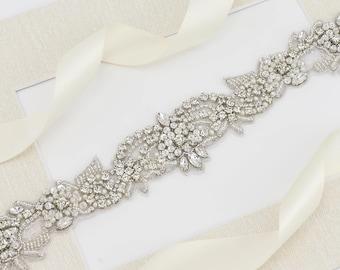 Bridal Belt, Crystal Belt,  Pearl Crystal Belt, Wedding Dress Sash Belt, Bridesmaid Sash Belt, Bridal Sash Belt, Pearl Sash Belts B181.1