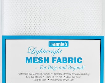 "Lightweight Mesh White Pre packed By Annie's 45cm x 136cm (18"" x 54"")"