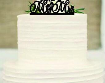 silhouette wedding cake topper, Unique wedding cake topper with heart decor, disney cake topper, beauty and the beast wedding cake topper,