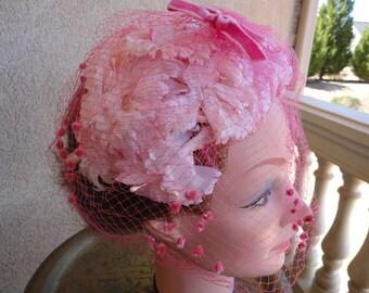 Pink Floral Hat