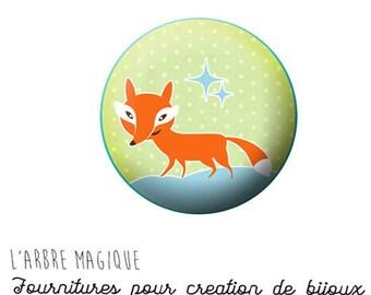 Cabochon 25 mm Fox Fox ref 1415 fancy
