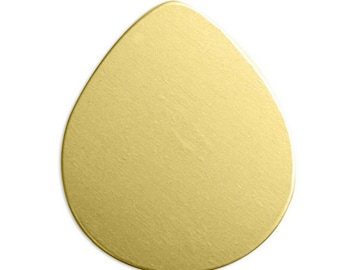 Brass Drop Stamping Blank-Tear Drop Shape-24 Gauge 1 inch-Impressart Blanks-Qty. 6-Metal Supply Chick-IAD12094
