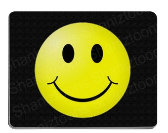Smiley Face Novelty Gift Mouse Mat