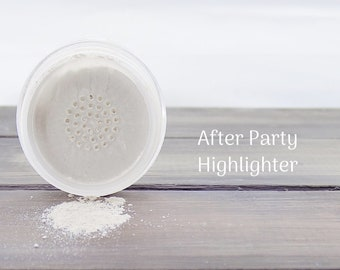 Mineral Highlighter After Party / Loose Highlighter / Natural Cosmetics / Illuminator / Cruelty Free / Pink Highlighter