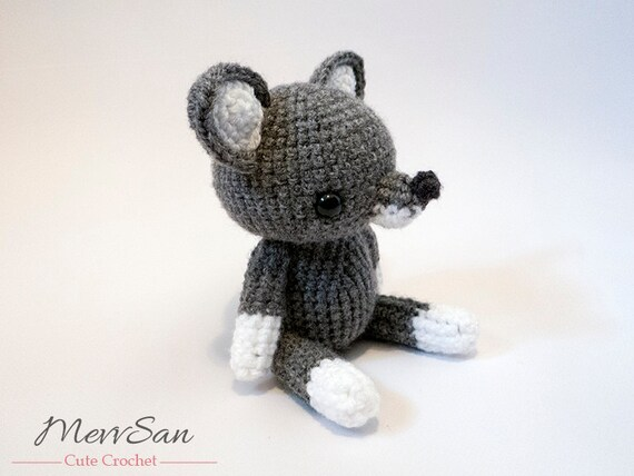 Crochet Pattern Pdf Amigurumi Woodland Critter Wolf Crochet