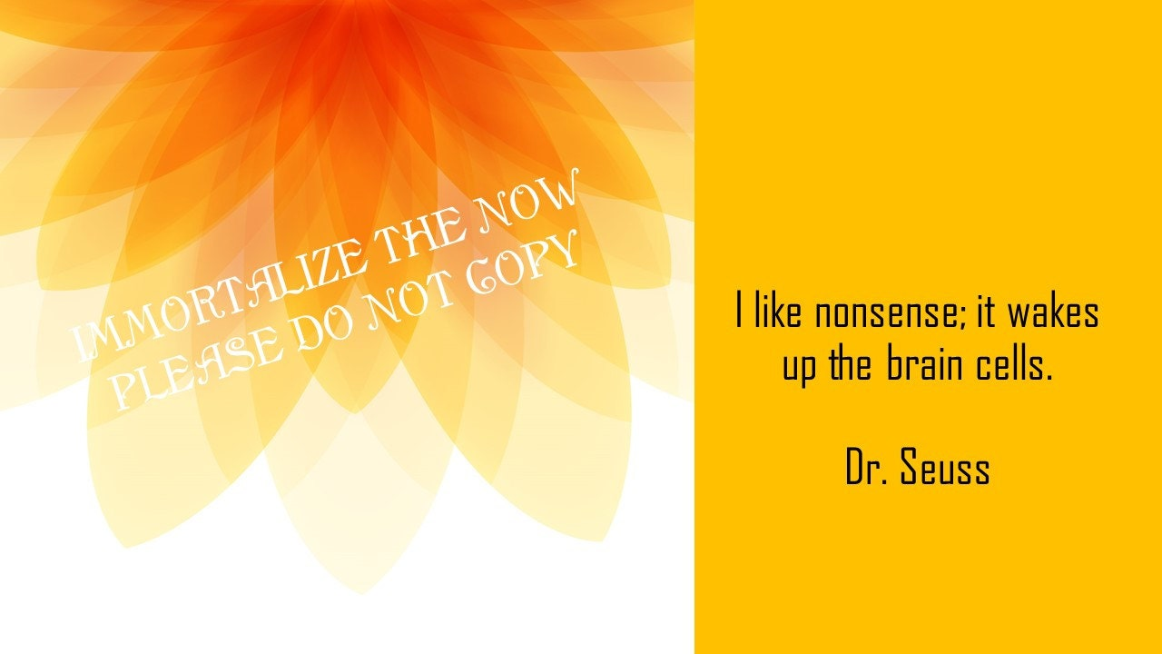 Philosophy Wall Art: Dr Seuss Quote 4