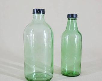Pharmacy bottles, medical bottles, screw bottles, 1960, DDR