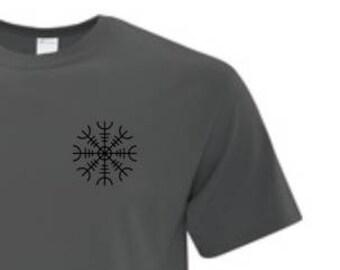 HELM OF AWE Rune Symbol - Mens T-Shirt
