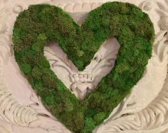 Moss heart wreath...