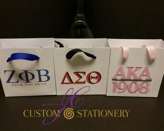 The Sorority Mini gift bags collection Zeta Beta, Delta Sigma, Alpha Kappa Alpha (10 per set)