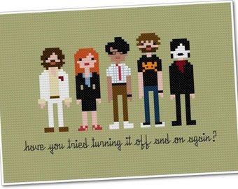 The IT Crowd - The *Original* Pixel People - Cross-stitch PDF Pattern - INSTANT Download