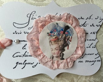 Marie Antoinette Gift Tags