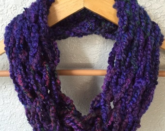 Infinity Scarf, Arm Knitted Scarf