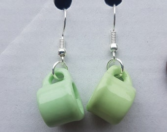 Green Mug earrings