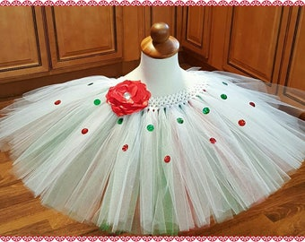 Red, White & Green Tutu
