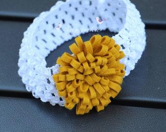 Felt loop Flower Headband, Felt Flower Hair Band