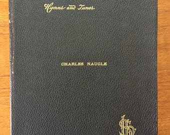 1899, Book of Worship with Hymns and Tunes, vintage Lutheran Christian hymnal and church prayers