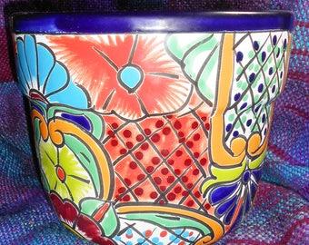Talavera Mexican Pottery Planter Medium Size