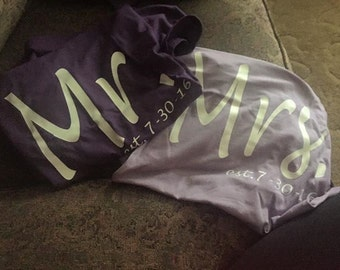 Mr & Mrs. shirts with date established