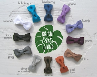 Modern Bow Infant Snap Clips // Bow Tie Hair Clips // Petite Bow Snap Clips // Newborn Bow Clips // Infant Bow Clips // Photo Prop