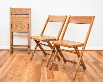 Folding Chairs, Wood Folding Chairs, Wooden Chairs, Classic Snyder Oak Wood  Folding Chairs