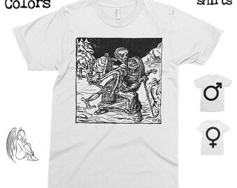 The Dance of Death - Alfred Kubin T-shirt, Tee, American Apparel, Artist, Art, Illustration, Walter Crane, Kokoschka, Cute Gift