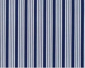 INSTOCK The Good Life Stripe Navy by Bonnie and Camille from Moda -1 yard