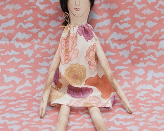 Rag Doll with Peony Print Dress