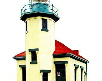 "Pt Robinson Lighthouse; Fine Art Print Available in 5x7"", 8x10"", 11x14"", 13X19"""