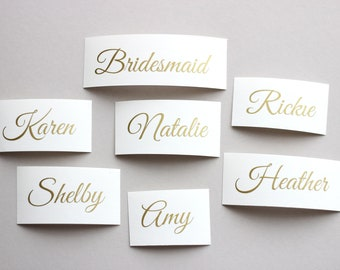 Custom Name Decal, Wedding party decal, Wedding Sticker, Wine glass decal,  Personalized Name Decal for envelope, macbook, hanger, yeti