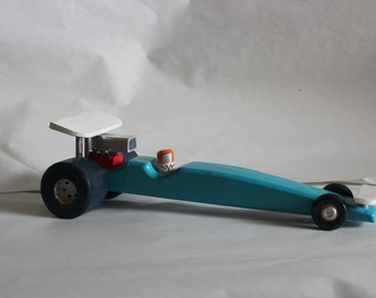 Wooden Drag Racing Car Toy