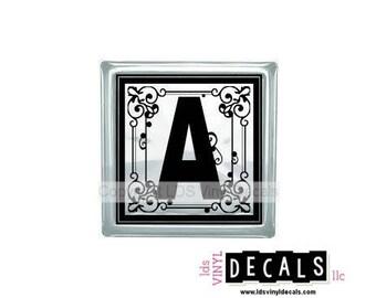 Fancy Alphabet - Vinyl Lettering for Glass Blocks - Monogram Craft Decals