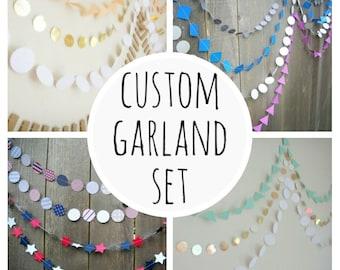 Conjunto personalizado de garland, guirnalda personalizada, guirnalda wedding, Telón de fondo de fotografía, guirnalda personalizada, personalizada, personalizado, guirnalda de papel