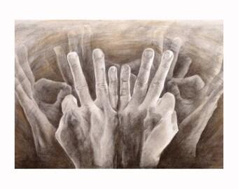 Family (ASL) Fine Art Print