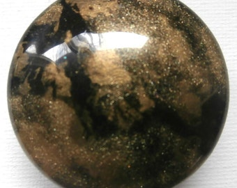 Custom One of a Kind Epoxied Furniture and Cabinet Knobs- Gold and Black