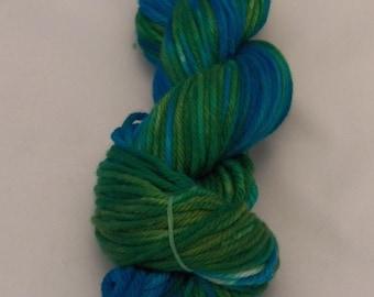 Rainforest- Merino Bulky Yarn- Hand Dyed- OOAK- 0021