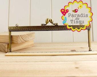 5 x large bag rectangular 18cm k095 bronze Metal clasps