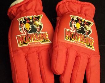 Vintage 1992 Marvel's Wolverine Children's Gloves, LIKE NEW