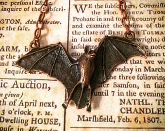 SteamPunk Bat Necklace
