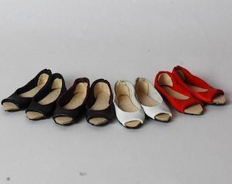 Handmade shoes peep toe ballerina flats  for modsdoll FR16