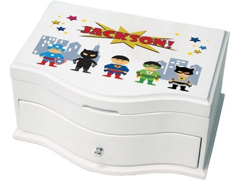 Personalized Superhero Asian Princess Jewelry Box