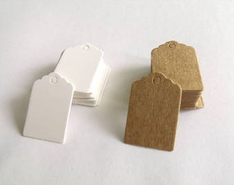 Mini Tags labels cardboard American 2 cm * 3 cm