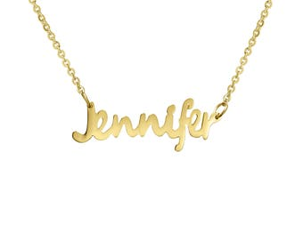 """Sterling Silver Name Necklace """"Jennifer"""", Personalize with any name, a great holiday gift! Hand Made Jewelry, Personalize yours now!"""