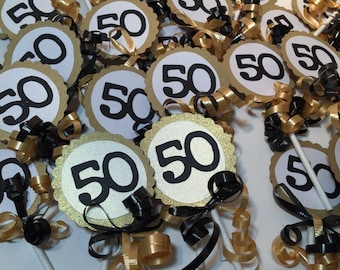 50th Cupcake Toppers