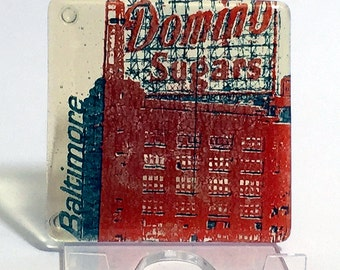 Greetings from Baltimore Single Coaster | Domino Sugar - made to order