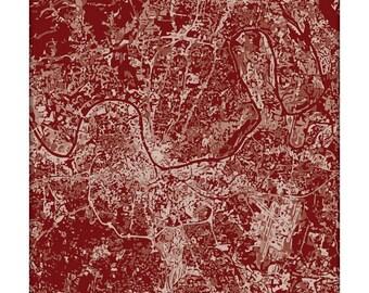 Nashville Cityscape / Tennessee Graphic City Map Art Print Grad Gift / Choose your color / 8x10 Dorm Decor / Wall Art Poster