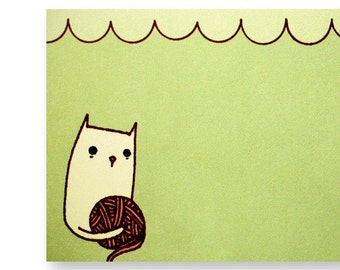 Cat Notepad Cat Note pad - boygirlparty - cat scratch pad - simple gifts, gifts for knitters, knitter gift, gifts for crocheters, yarn gifts