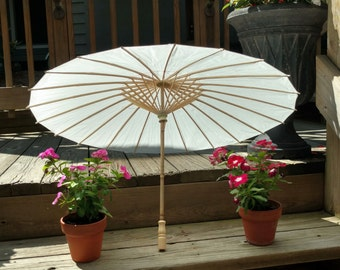 FREE Shipping -- Parasols / Sun Umbrellas -- White -- Ideal for Weddings, Parties, Special Events, Photo Shoots, and More
